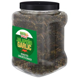 Jar 1lb Crickets Jalapeno Garlic Flavor