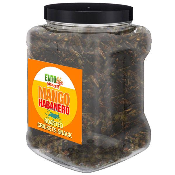Jar 1lb Crickets Mango Habanero Flavor
