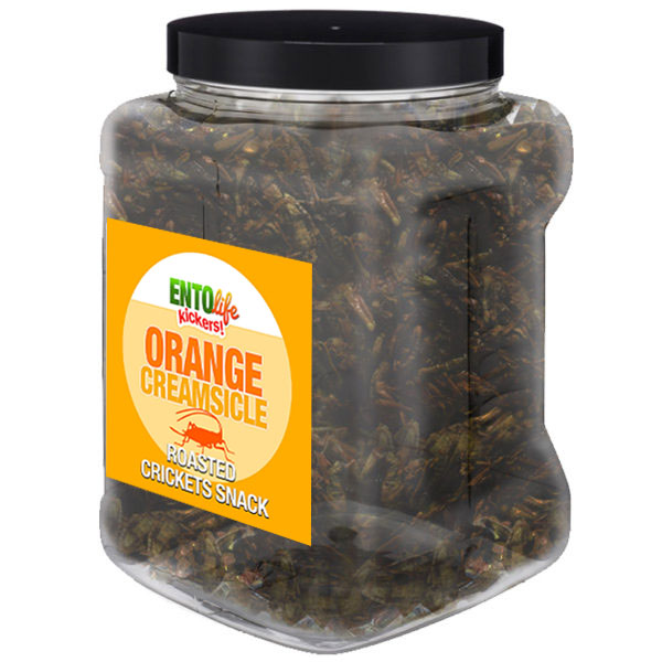 Jar 1lb Crickets Orange Creamsicle Flavor