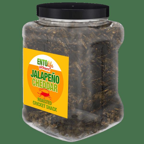 Jar 1lb Crickets Jalapeno Cheddar Flavor