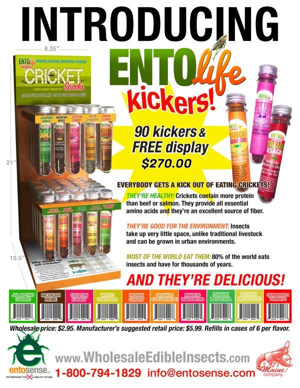 Mini-Kickers Flavored Crickets Sales Sheet