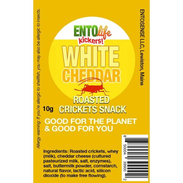 White Cheddar Mini-Kickers Crickets Label