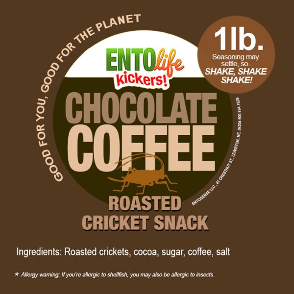 Chocolate Coffee Crickets Label