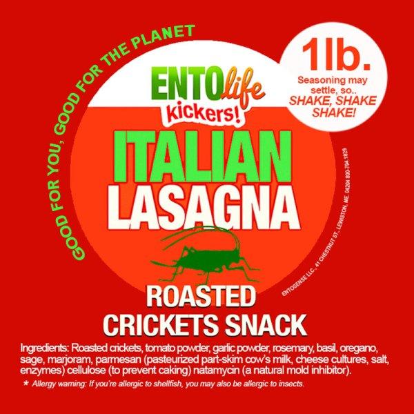 Italian Lasagna Crickets Label