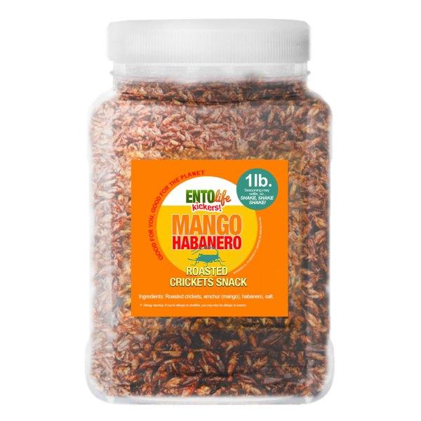 Pound Edible Crickets Mango Habanero Flavor