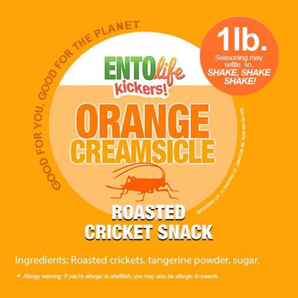 Orange Creamsicle Crickets Label