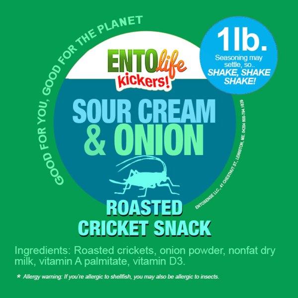 Sour Cream & Onion Crickets Label