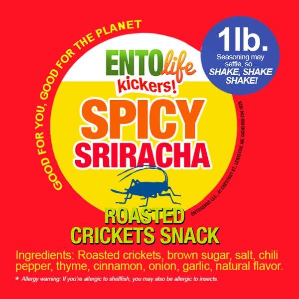 Sriracha Crickets Label