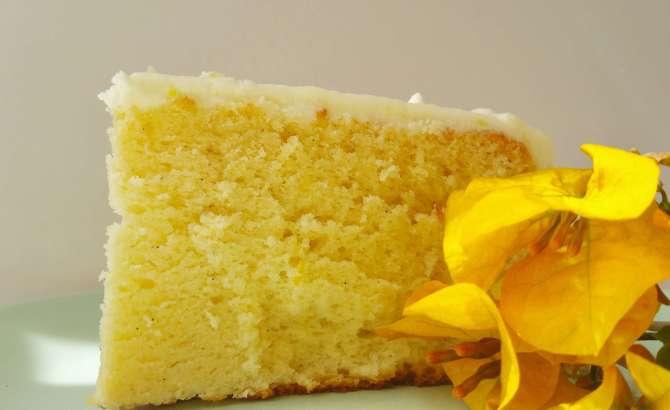 Lemon Chiffon Cake with Lemon Cream Cheese Frosting | Kicking Back the Pebbles