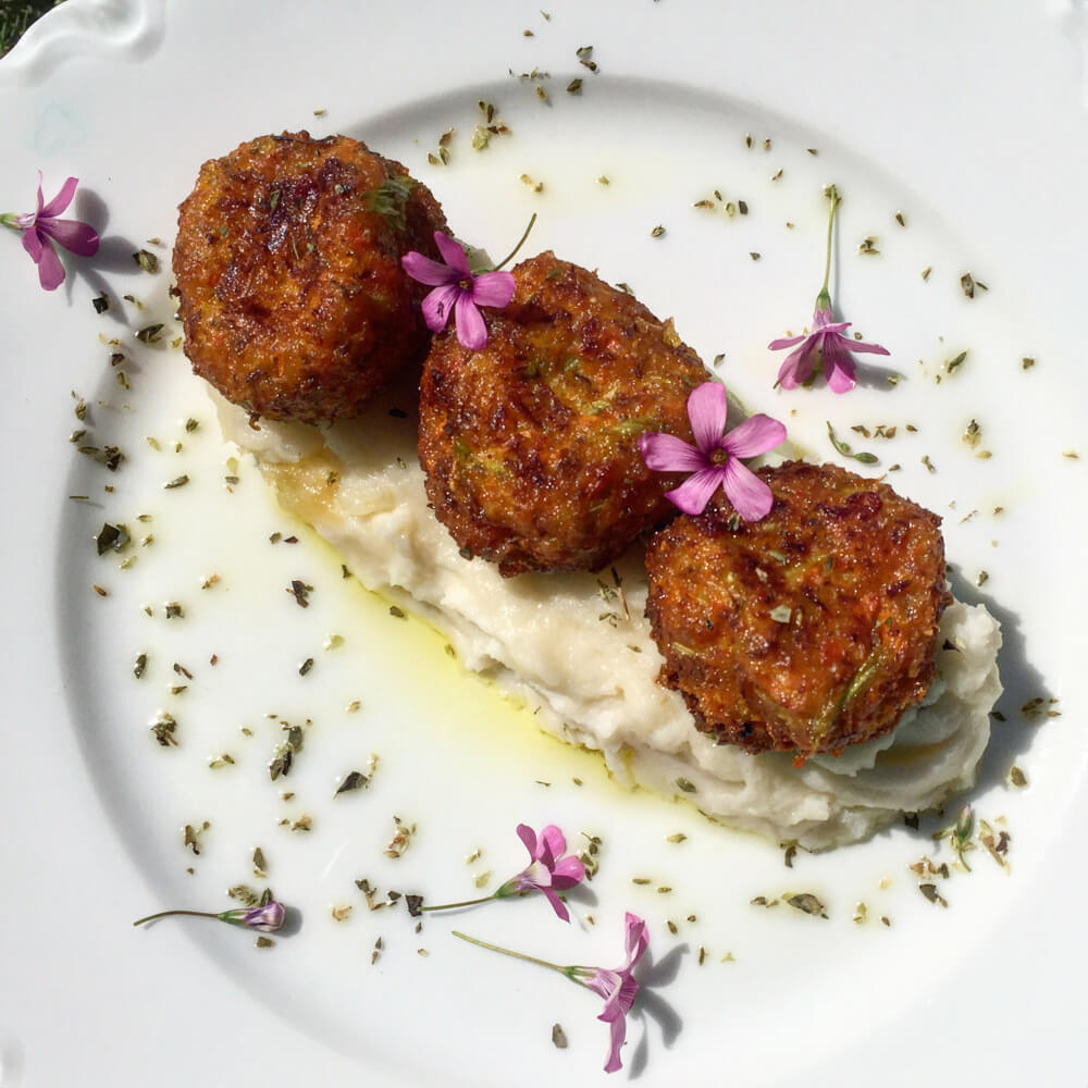 Santorini Vegetarian Keftedes @Kouzounas Kitchen