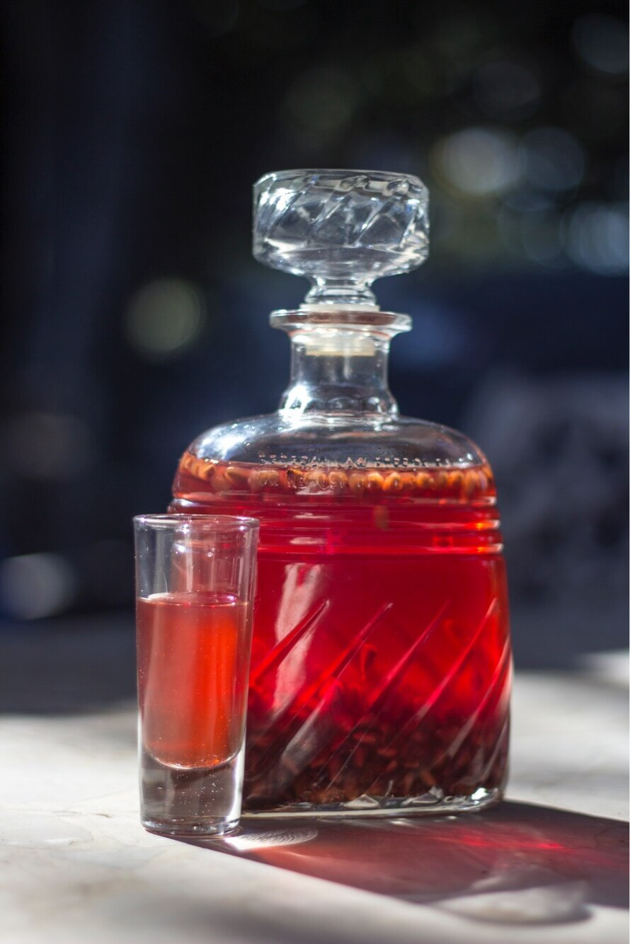 Holiday Spiced Pomegranate Liquer @Kouzounas Kitchen