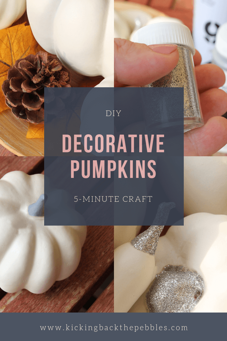 Quick & easy craft: decorative pumpkins | Kicking Back the Pebbles