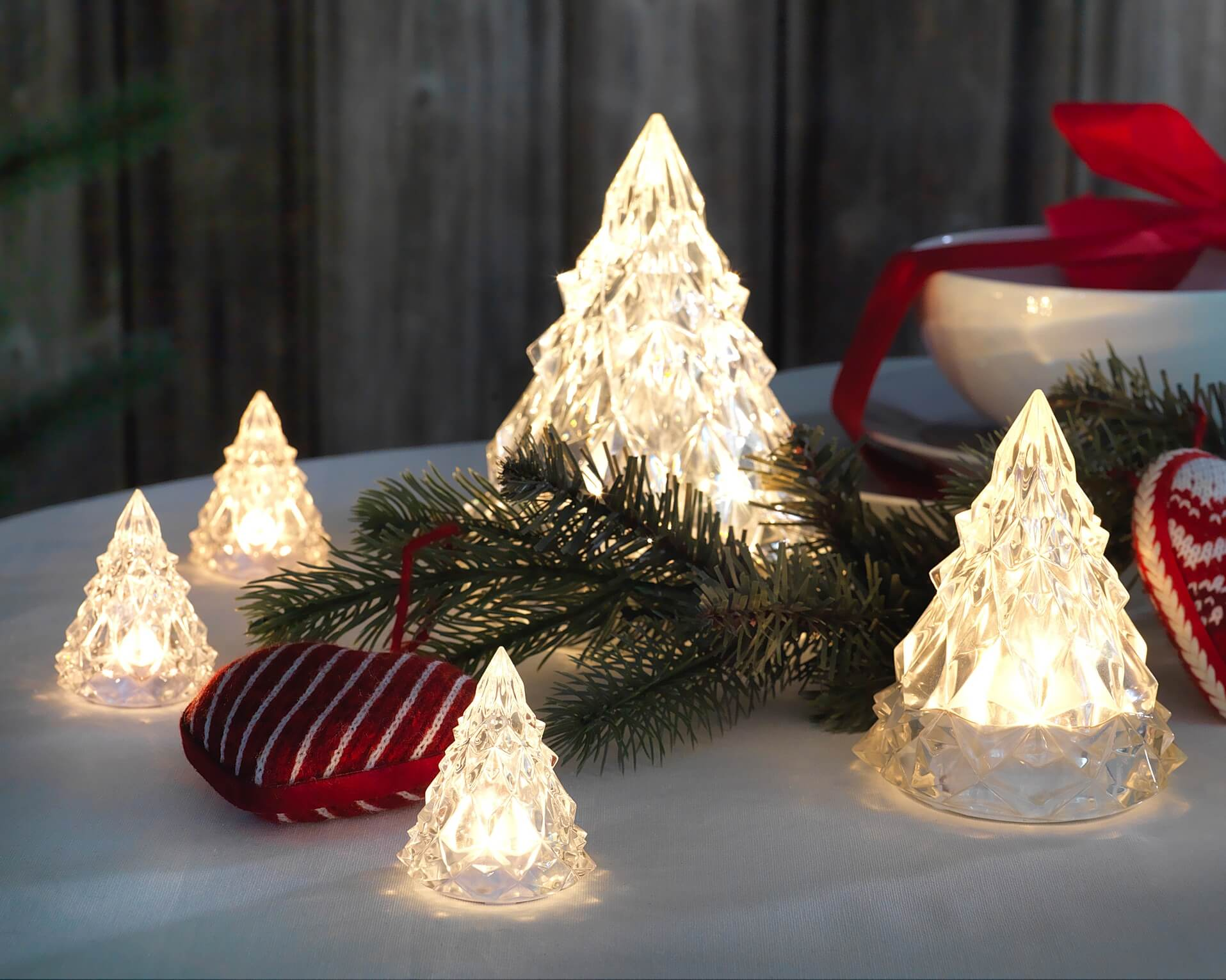 LED decorative acrylic Christmas trees | IKEA