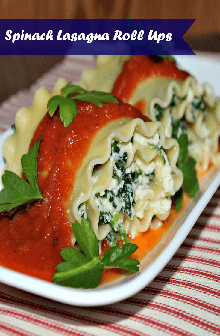 Spinach Lasagna Roll Ups Recipe * Kicking It With Kelly