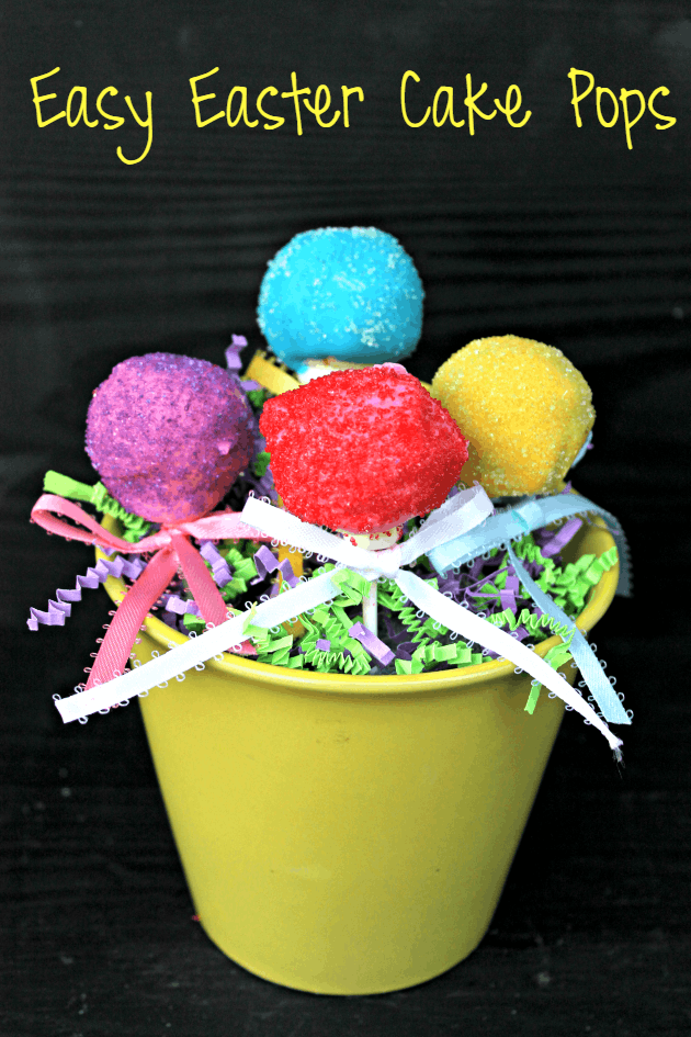 Easy Easter Cake Pops pin