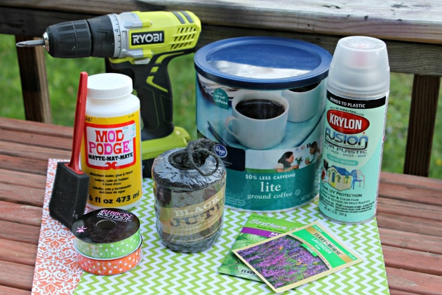 coffee can planter supplies