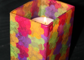 Homemade Stained Glass Candle Holder Craft