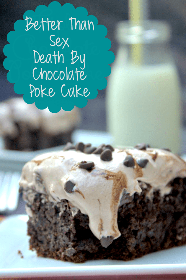 If you want a dessert that will excite your taste buds, you need to try this Better Than Sex Death By Chocolate Poke Cake recipe.