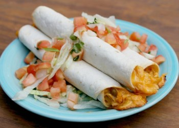 1 cheesy crockpot chicken taquitos