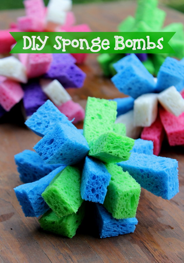 The summer heat can be brutal and so can the kid's boredom! Here's 5 fun ideas to beat the heat and DIY Sponge Bombs craft