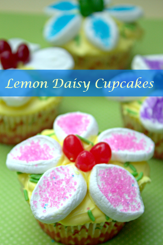 Lemon Daisy Cupcakes pin
