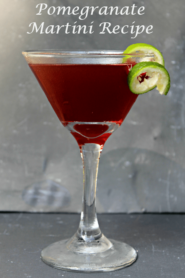 Pomegranate Martini Recipe Kicking It With Kelly