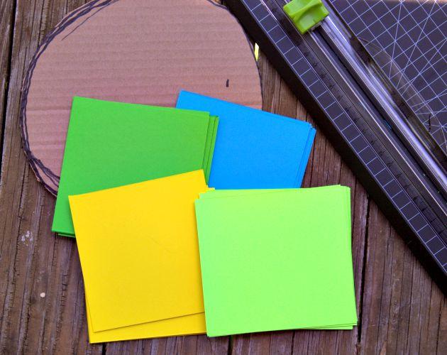 Home Decor Project: Paper Flower Craft supplies