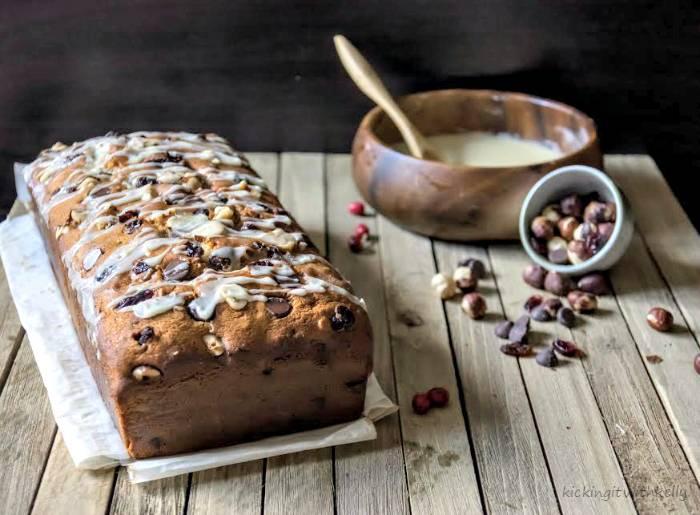 Chocolate Chip Cranberry Orange Hazelnut Bread