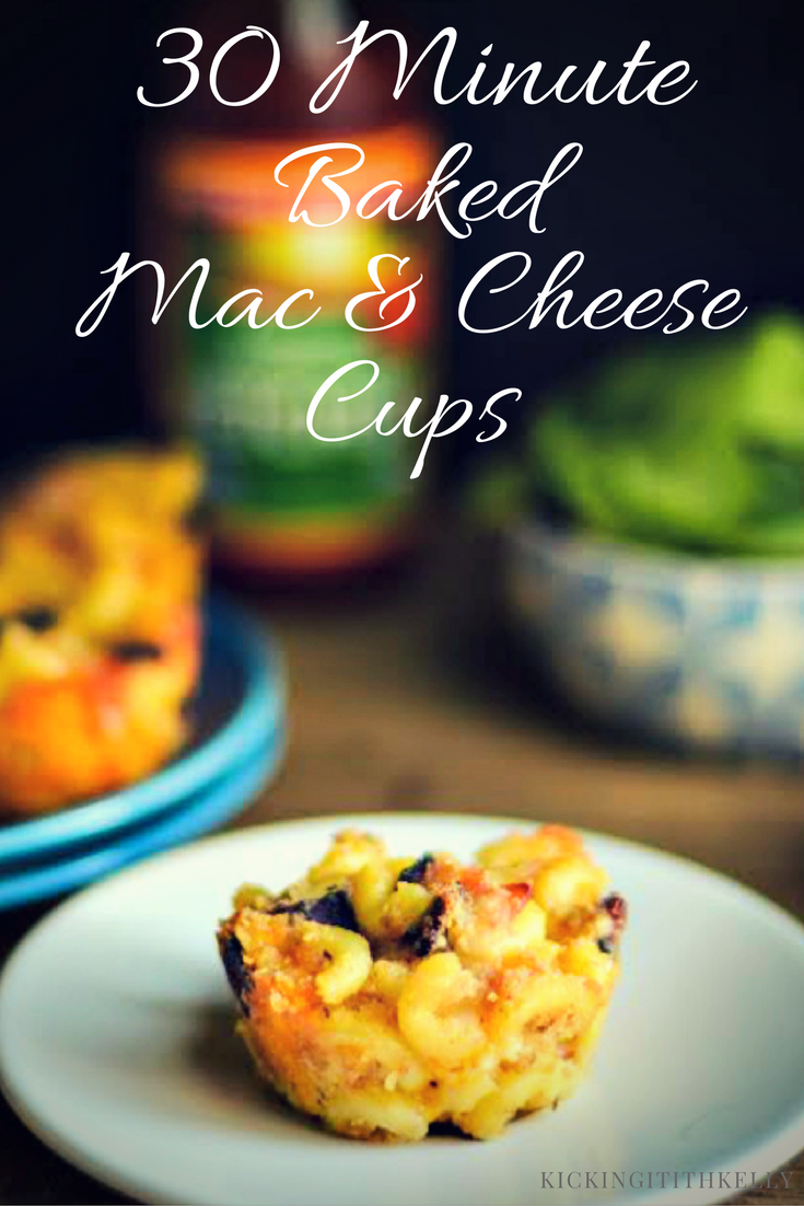 No time for dinner? No problem! These 30 Minute Baked Bacon Macaroni and Cheese Cups make the perfect after school meal