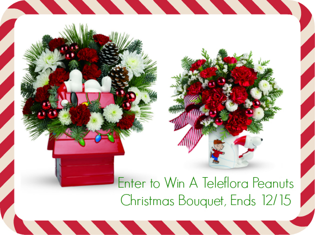 Teleflora Peanuts Christmas Bouquet collage