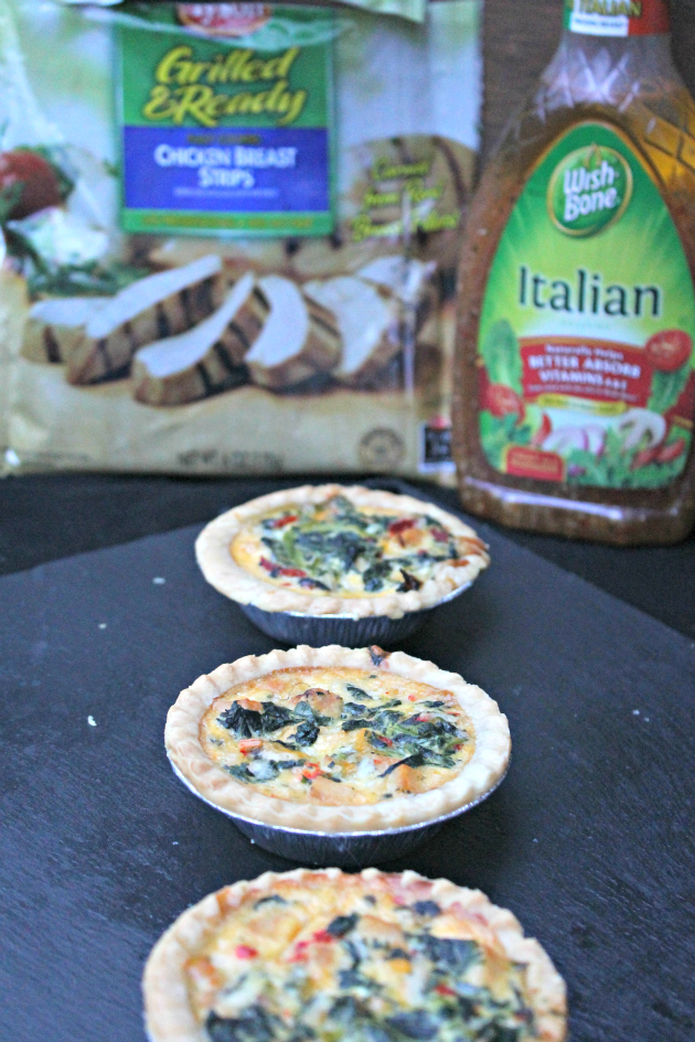 Italian Chicken Florentine Tarts #OneBowlWonder 1