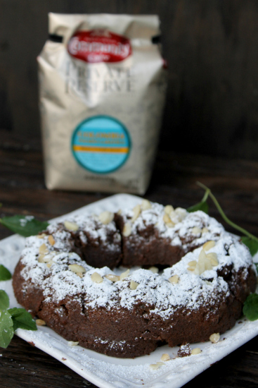 Flourless Chocolate Macadamia Nut Espresso Cake coffee and cake