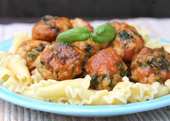Sweet & Spicy Baked Chicken Florentine Meatballs Recipe
