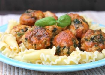 Sweet & Spicy Baked Chicken Florentine Meatballs Recipe 3