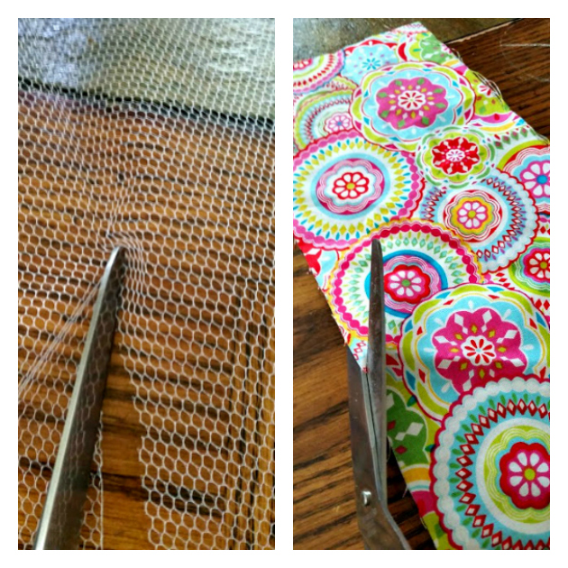 Easy To Sew DIY Mesh Laundry Bag measure and cut