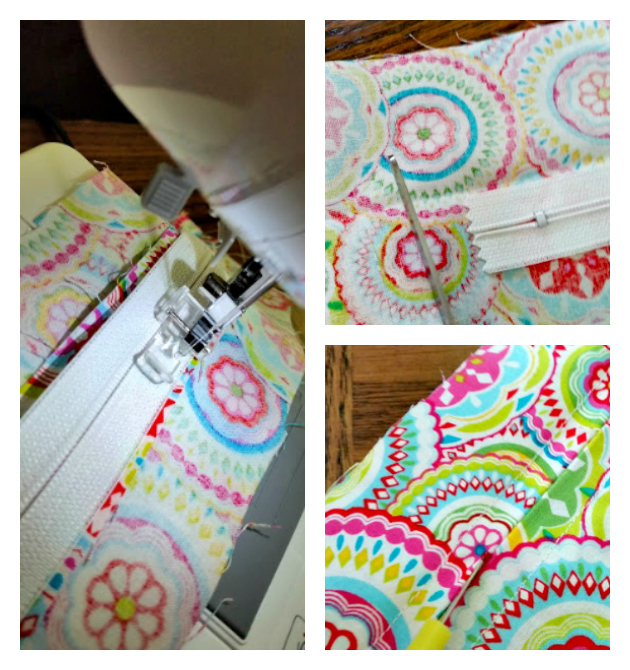 Easy To Sew DIY Mesh Laundry Bag zipper collage