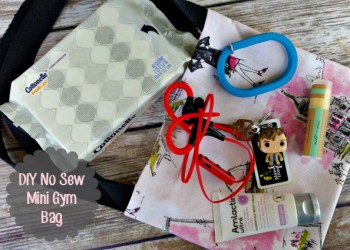 30 Minute DIY No Sew Mini Gym Tote Bag