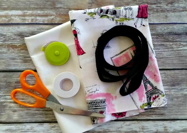 DIY No Sew Tote Bag supplies