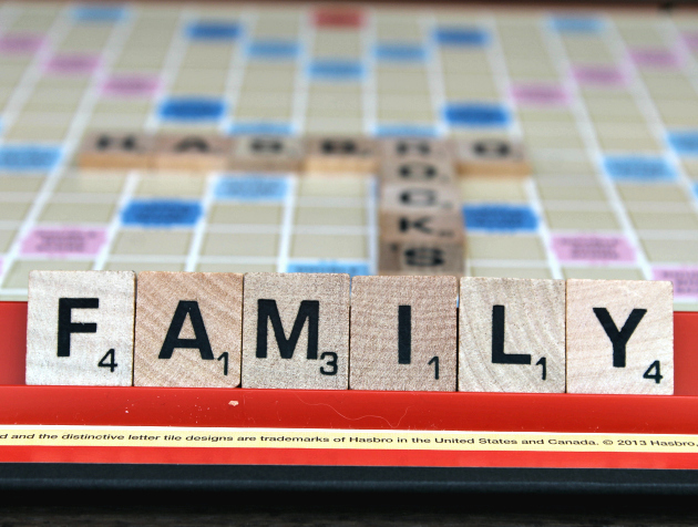 It's Family Game Night! 8 Reasons You Should Play Scrabble tiles