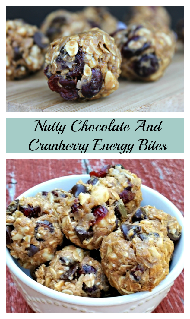 Are you looking for a pre or post workout snack that is as healthy as it is delicious? Try these Nutty Chocolate And Cranberry Energy Bites