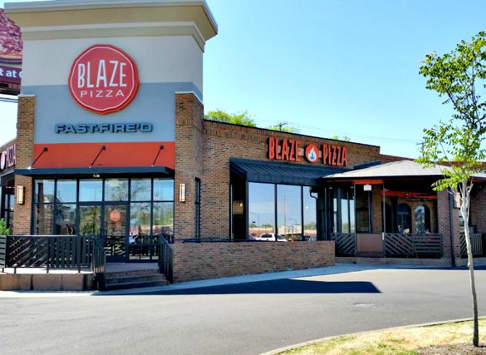 Blaze Fast Fire'd Pizza exterior