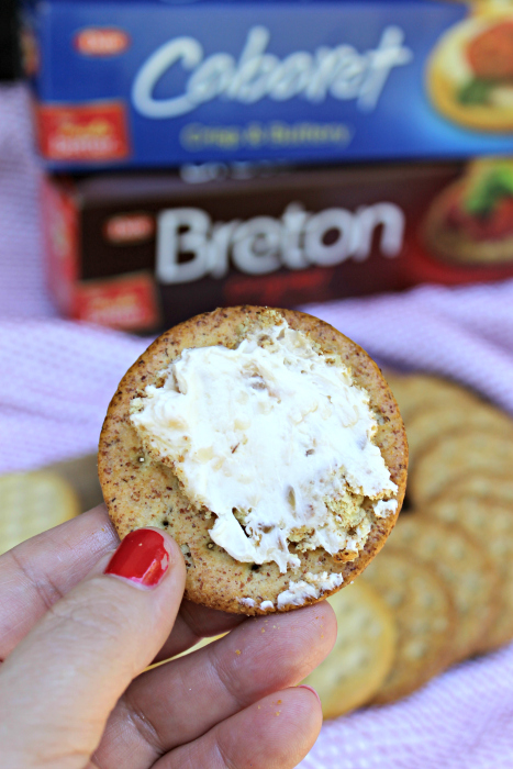 Caramelized Onion Cheese Ball Recipe cracker