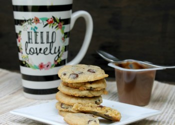 Chocolate Chip Caramel Latte Pudding Cookies cookies