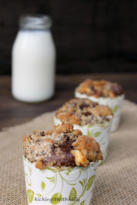 Double Chocolate Chip Zucchini Streusel Muffinsb