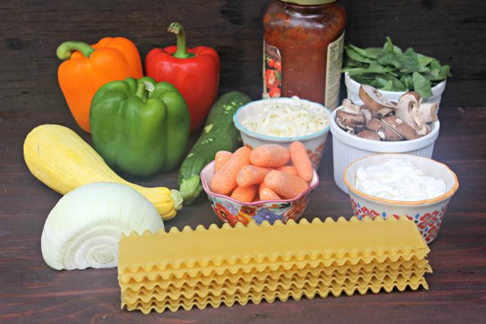 Vegetarian Lasagna Roll Ups Recipe lasagna supplies