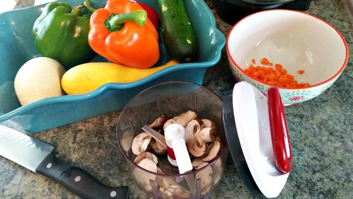 Vegetarian Lasagna Roll Ups Recipe veggies