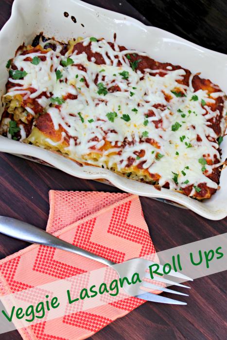 These Vegetarian Lasagna Roll Ups Recipe are a healthier version of a classic recipe #ad #ScrubDishCloth @scotchbriteUS