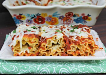 Easy To Make (and Clean) Vegetarian Lasagna Roll Ups Recipe