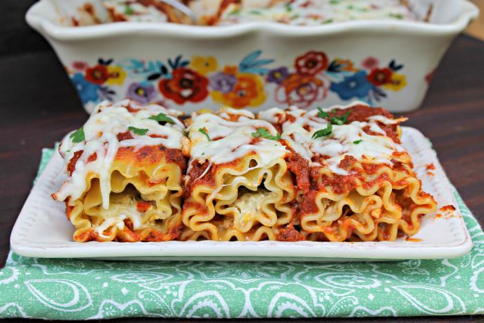 Vegetarian Lasagna Roll Ups