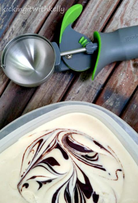 Homemade Peanut Butter Fudge Ice Cream